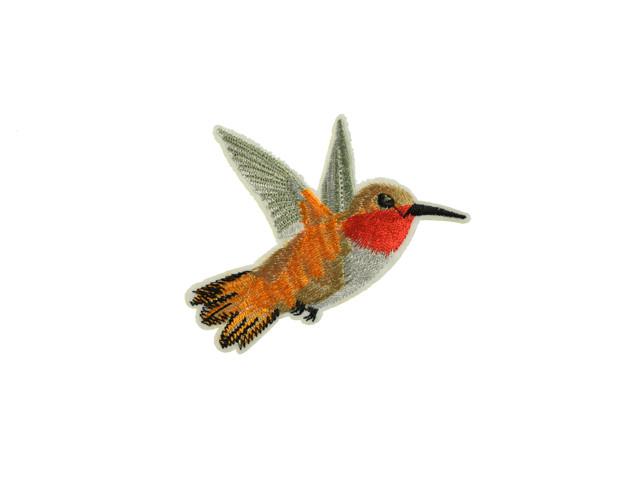 applicatie kolibri oranje middelgroot