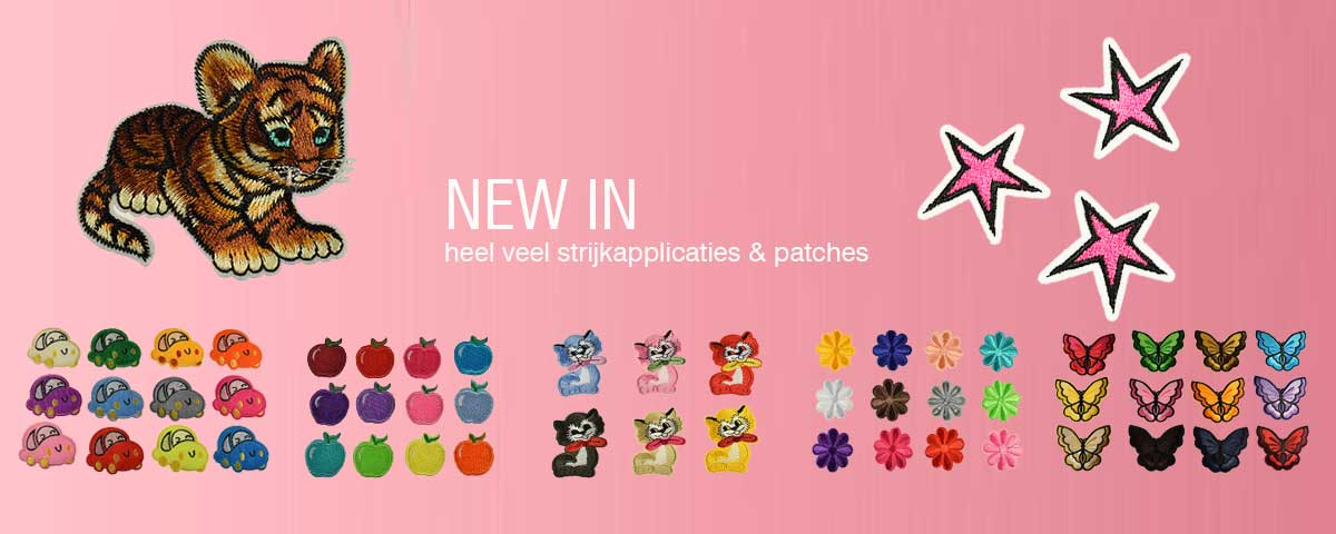 nieuw strijkapplicaties en patches