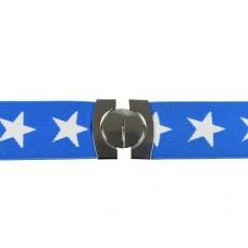 elastische riem lichtblauw met sterren