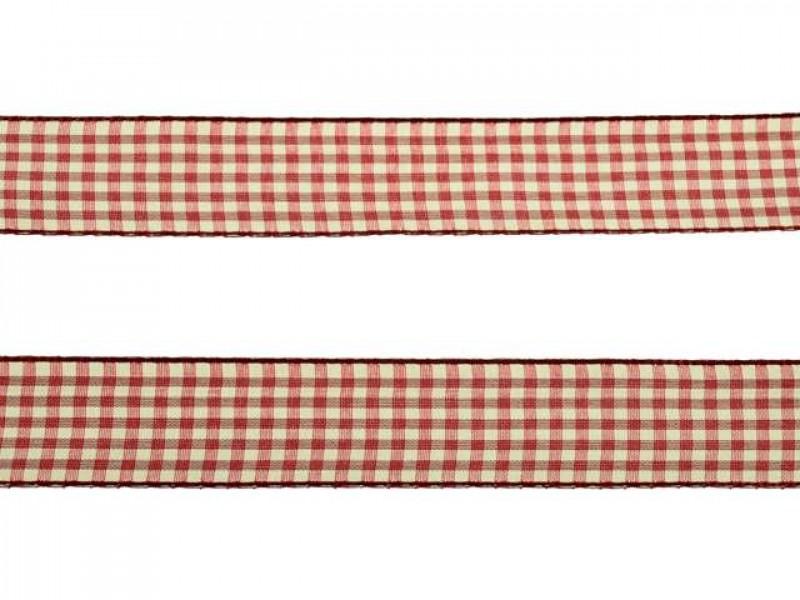3 meter sierlint bakkersruit bordeaux rood 25mm