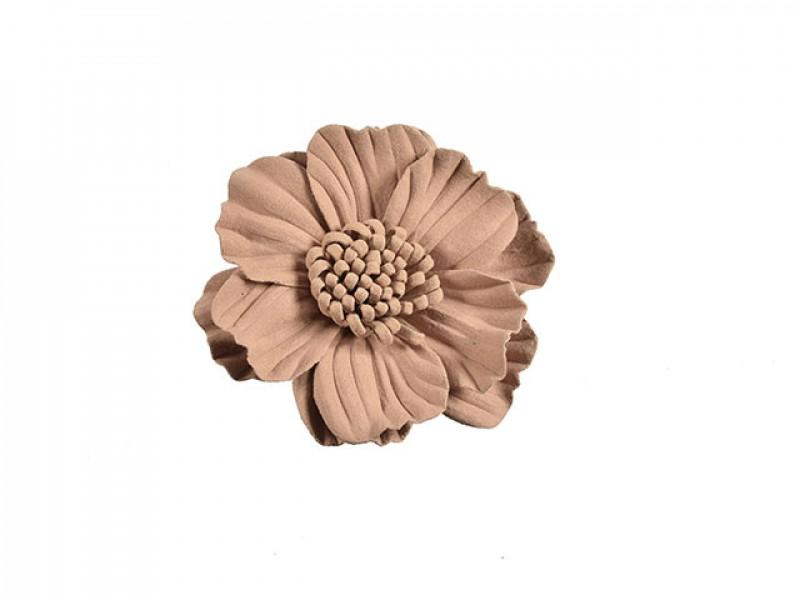 3d bloem licht bruin 75 mm