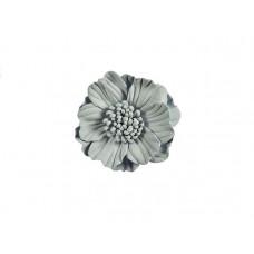 3d bloem licht grijs 75 mm