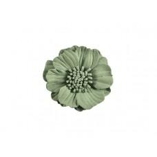 3d bloem olijf groen 75 mm
