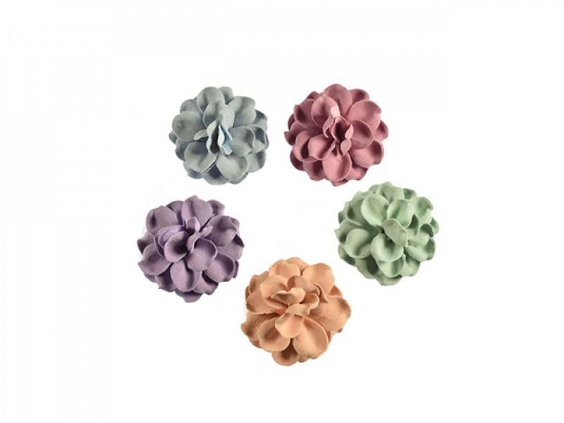 3d bloemen set 5 kleuren 45 mm