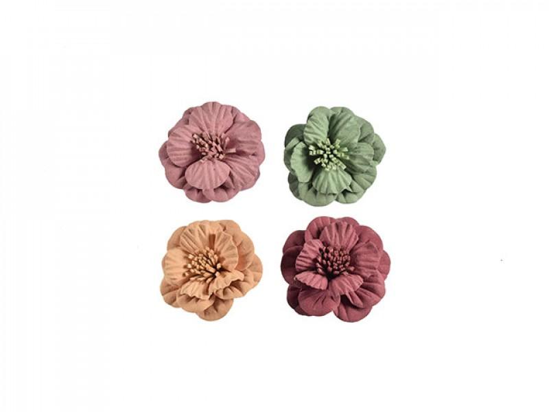 3d bloemen set klein 4 kleuren met stamper