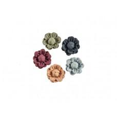 3d bloemen set klein 5 kleuren