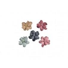 3d bloemen set klein 5 kleuren met stamper 32mm
