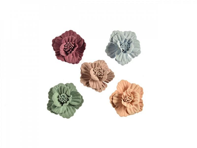 3d bloemen set klein 5 kleuren met stamper