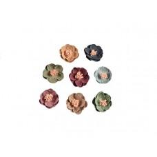 3d bloemen set klein 8 kleuren met roze stamper