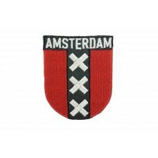 Amsterdamse vlag embleem opstrijkbaar