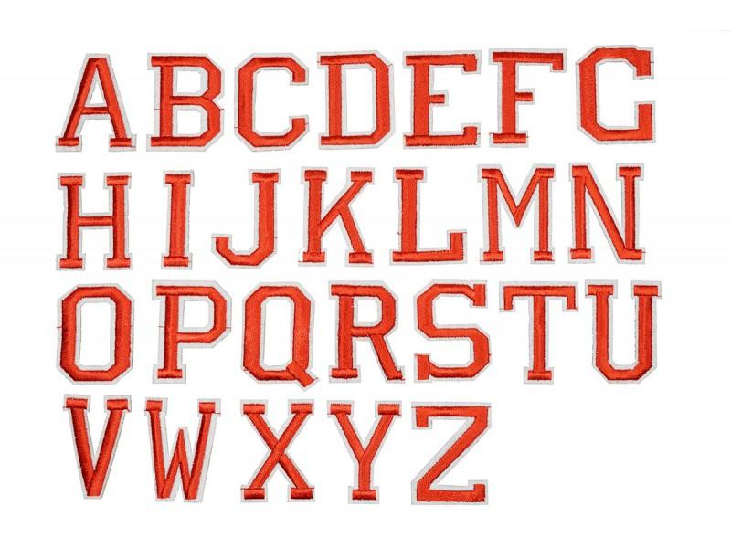 applicatie alfabet letter rood wit large