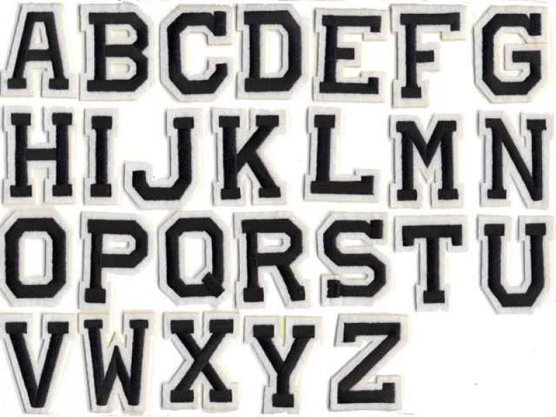 applicatie alfabet letter zwart