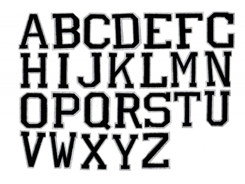 applicatie alfabet letter zwart wit large
