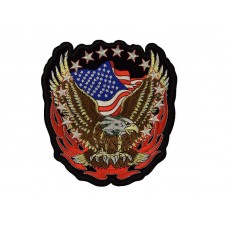 applicatie amerikaanse vlag met adelaar extra groot