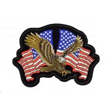 applicatie amerikaanse vlag met adelaar groot