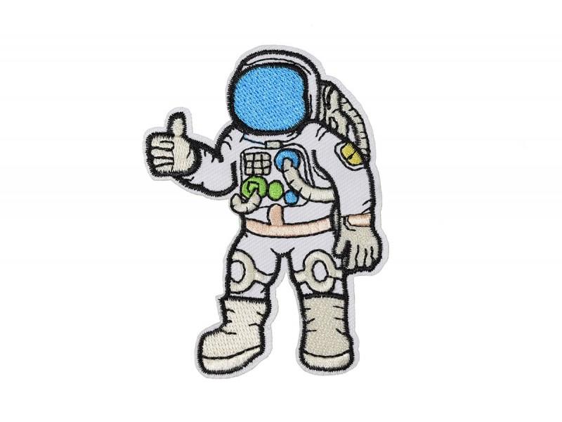 applicatie astronaut in pak met roze riem