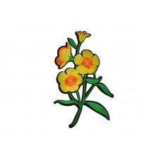 applicatie bloemen geel op groene tak