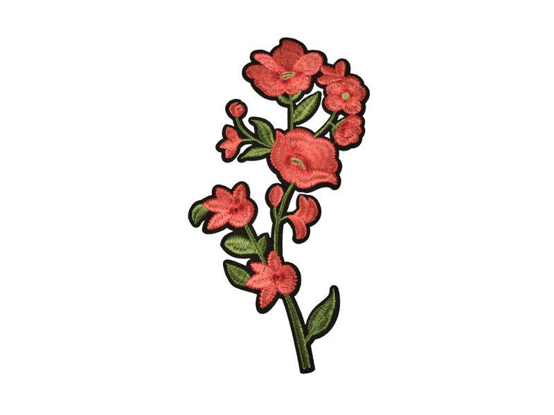 applicatie bloemen rood op groene tak