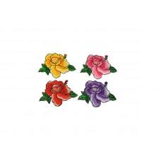 applicatie bloemen set 4 kleuren