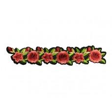 applicatie bloemen streng rood roze