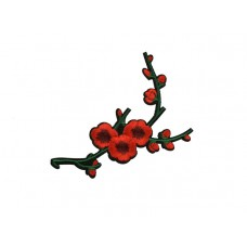 applicatie bloesemtak rood groen middelgroot