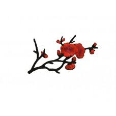 applicatie bloesemtak rood zwart middelgroot