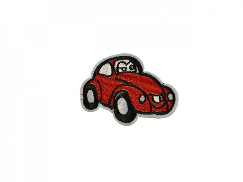 applicatie fun kever auto rood