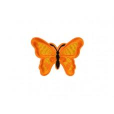 applicatie geborduurde vlinder oranje