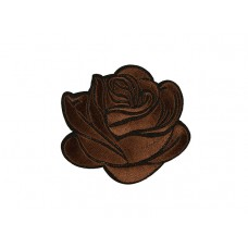 applicatie gestileerde roos bruin