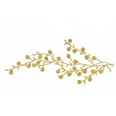 Applicatie goud bloesem op tak extra large (33 x 12 cm)