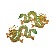 applicatie gouden draken set extra groot