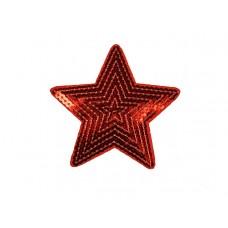 applicatie grote ster pailletten rood