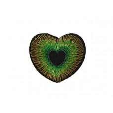 applicatie hart donker groen goud
