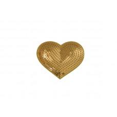 applicatie hart gouden pailletten