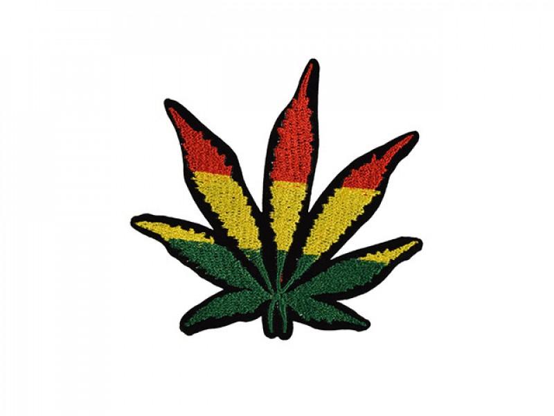 applicatie hennep blad rastafari kleuren