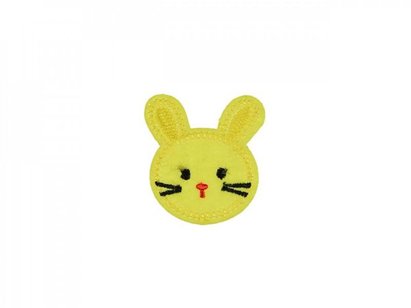 applicatie klein konijntje geel