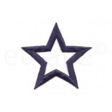 applicatie open ster marine blauw 7.5 cm