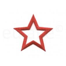 applicatie open ster rood 7.5 cm