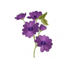 applicatie paarse anemoon op tak middelgroot