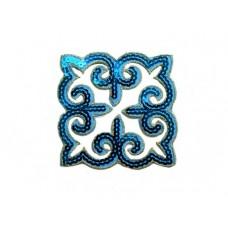 applicatie pailletten turquoise