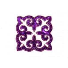 applicatie pailletten violet