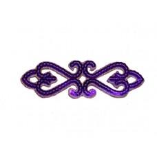 applicatie pailletten violet goud