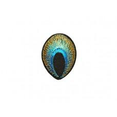 applicatie pauwoog turquoise goud