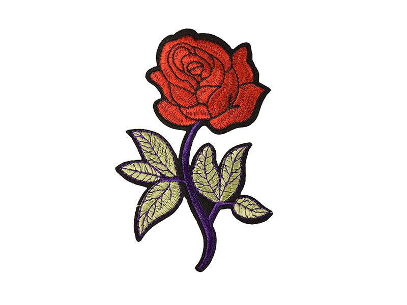 applicatie roos paars rood large