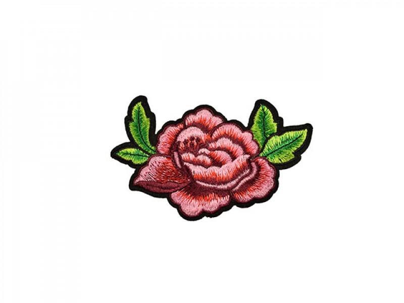 applicatie roos roze groen blad