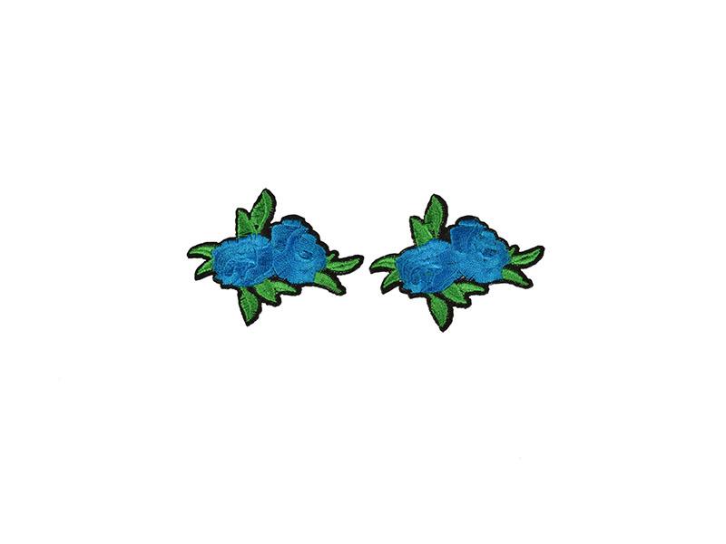 applicatie rozen blauw 2 stuks