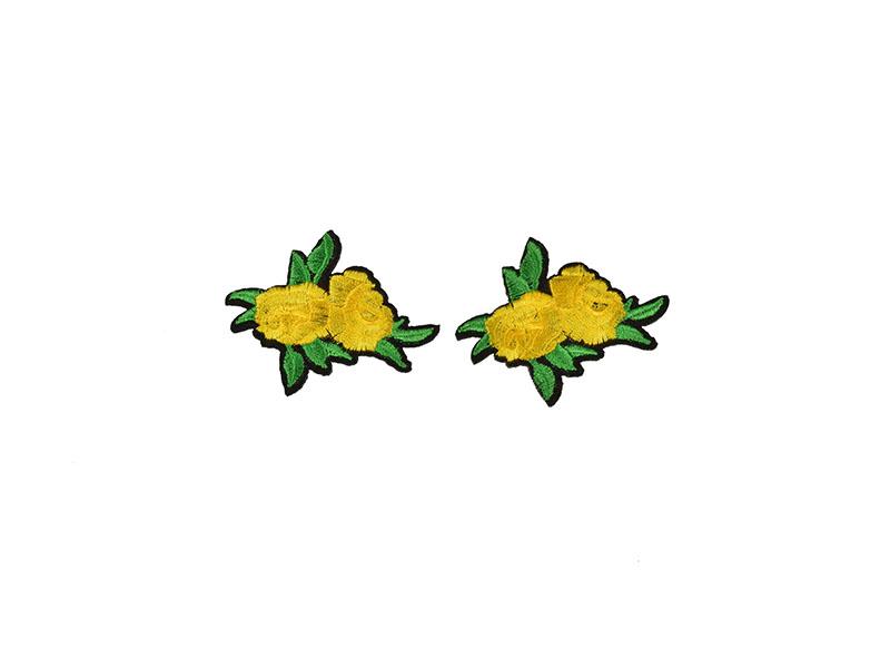 applicatie rozen geel 2 stuks