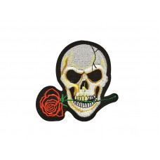 applicatie skull met roos