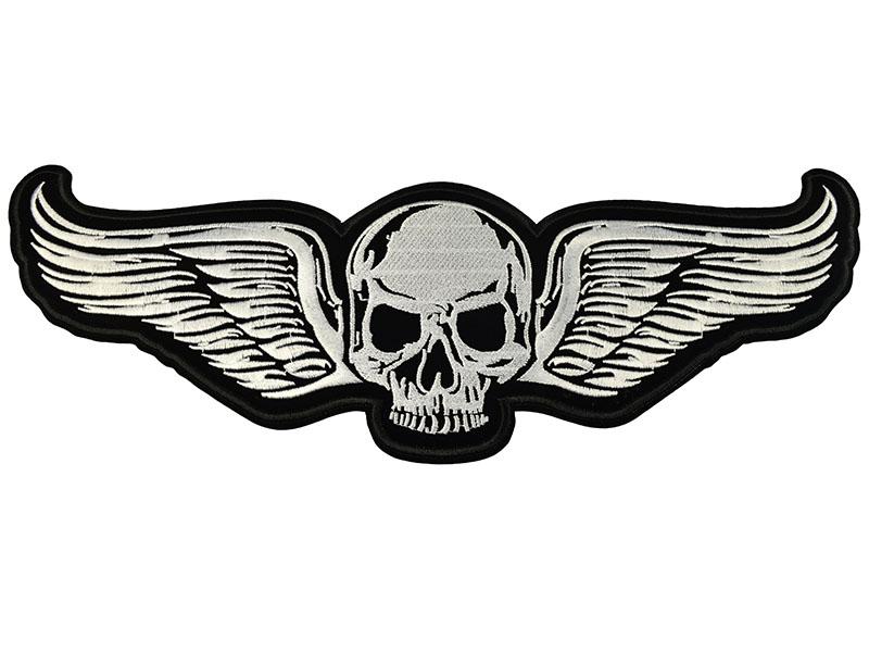 applicatie skull met vleugels groot