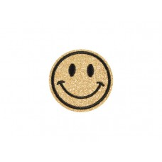applicatie smiley goud glitter